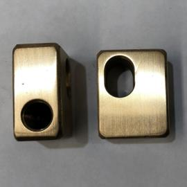 Brass Block M10 Rod End Round Cylinder